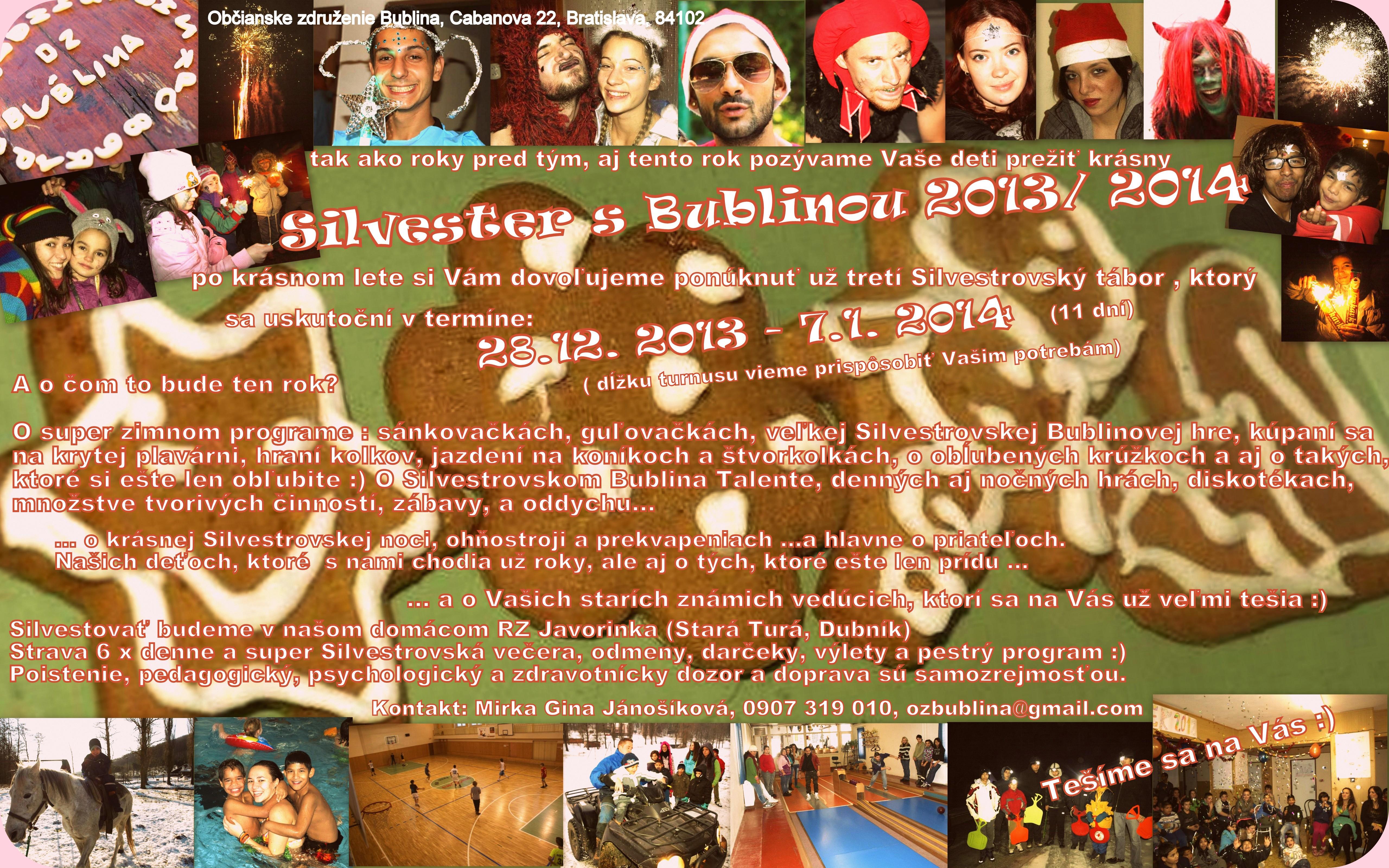 Ponuka Silvester 2013 2014